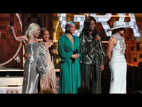 Michelle Obama makes surprise appearance at the Grammy Awards