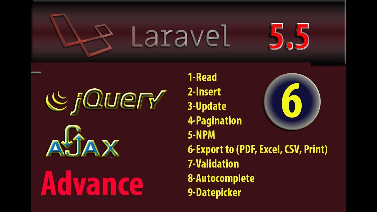 Laravel 5 5 advance export data to excel pdf csv print with jquery part 6