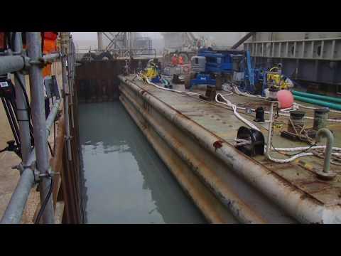 Relocation Drilling Rig on Caspian Sea. Saipem - Atyrau. Kashagan. Атырау Кулсары