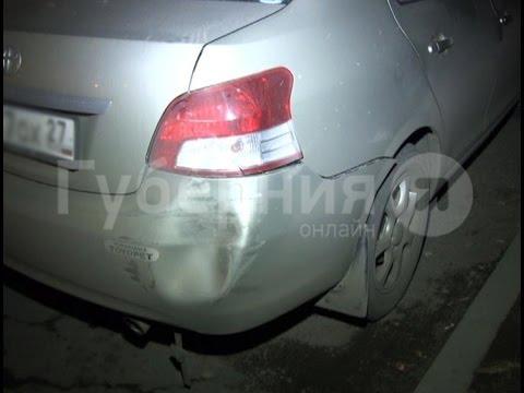 Нетрезвый хабаровский автолюбитель повредил две иномарки и пытался скрыться. MestoproTV