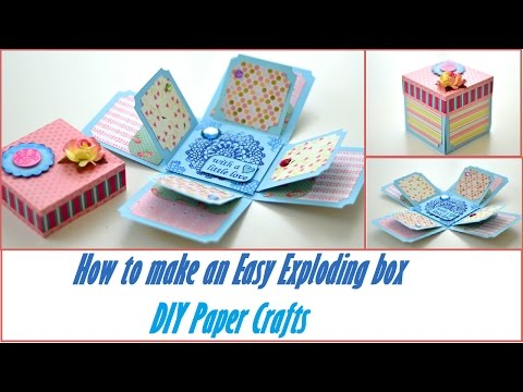 DIY Crafts - How to make an Easy Exploding Box - Basic Scrapbooking Tutorial