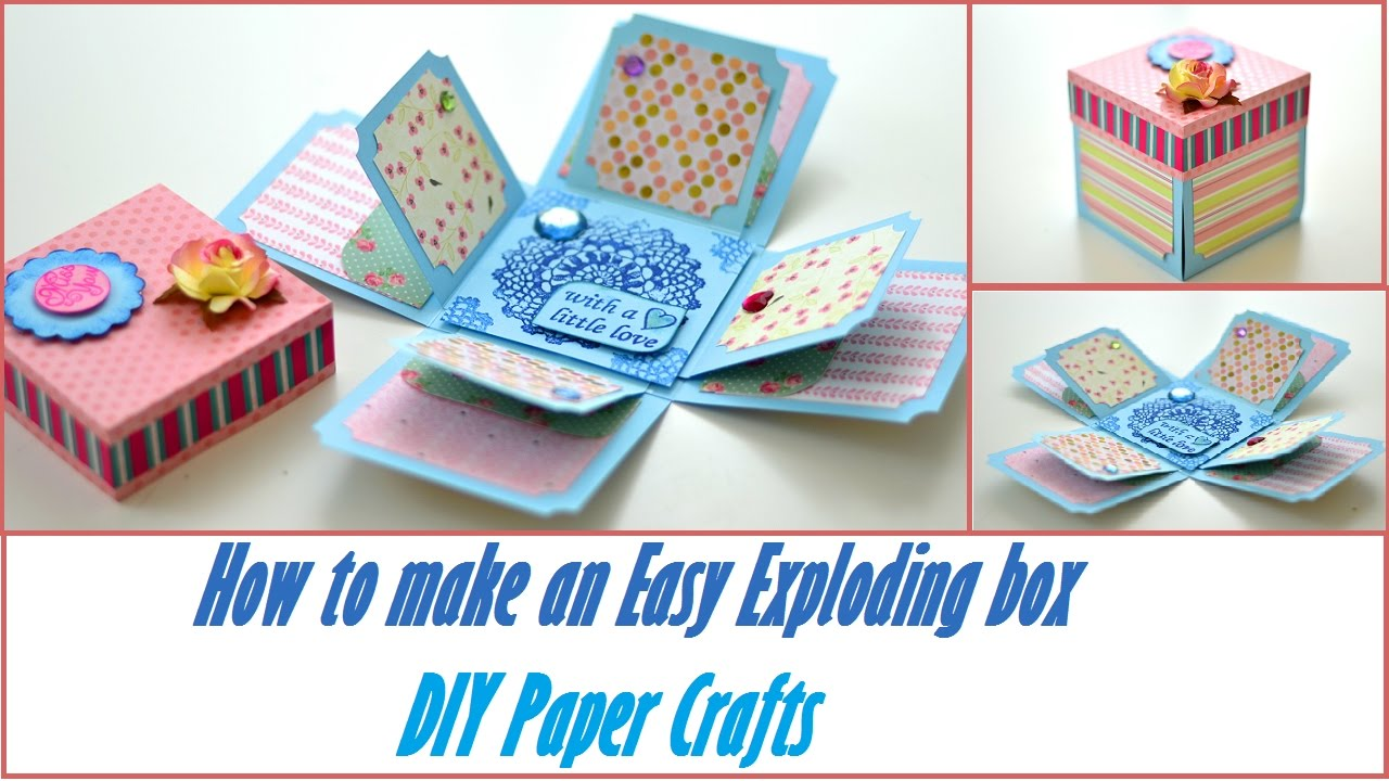 How to make scrapbook box - Diy Crafts How To Make An Easy Exploding Box Basic Scrapbooking Tutorial