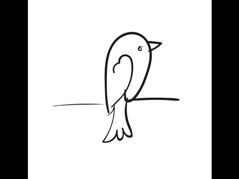 Cómo dibujar un pájaro paso a paso con los niños| Beatriz Diy - YouTube
