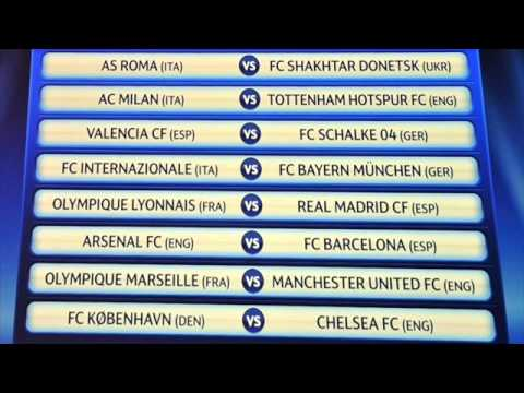 UEFA Champions League 2010 - 2011 Last 16 Draw