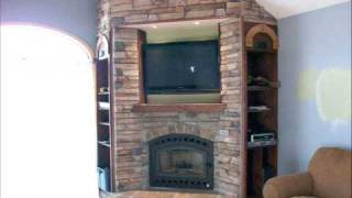 Cornercopia Wood Burning Fireplace