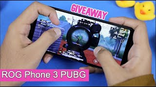 Asus ROG Phone 3 PUBG Mobile Gameplay Test with FPS, Graphics, Heating & Battery Drain *GIVEAWAY*