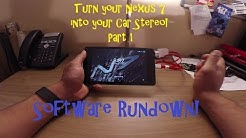 Turn Your Car's Stereo Into a Nexus 7 Tablet! Part 1 - Software Rundown
