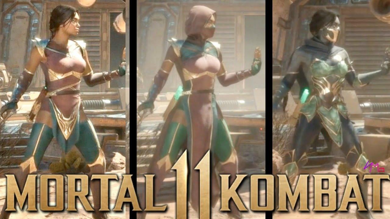 Mortal Kombat 11 Jade Gameplay Loadouts With No Mask Youtube