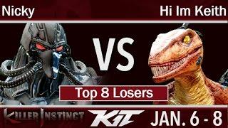 KIT17  - Circa | Nicky (Fulgore) vs Hi Im Keith (Riptor) Top 8 Losers - Killer Instinct