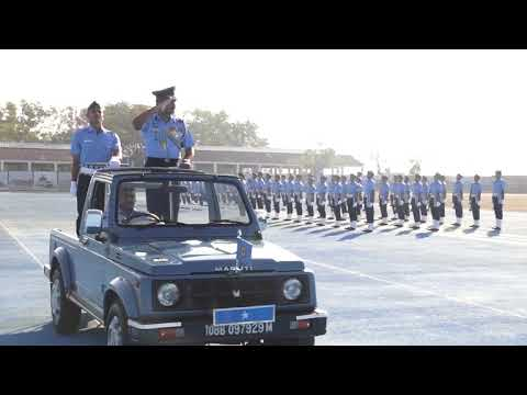 Airforce airmen passing out parade