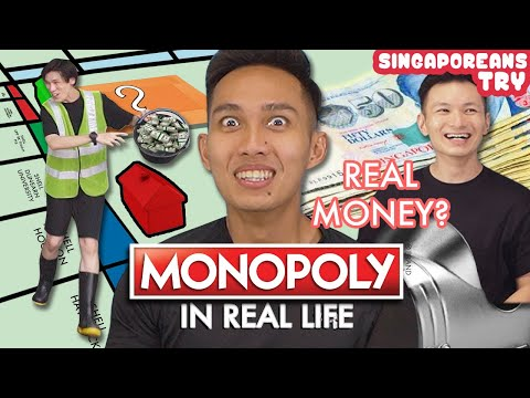 Singaporeans Try: Monopoly In Real Life