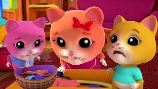 Ba chú mèo nhỏ | trẻ em mẫu giáo vần | bài hát mèo con ở việt nam | Kids Song | Three Little Kittens