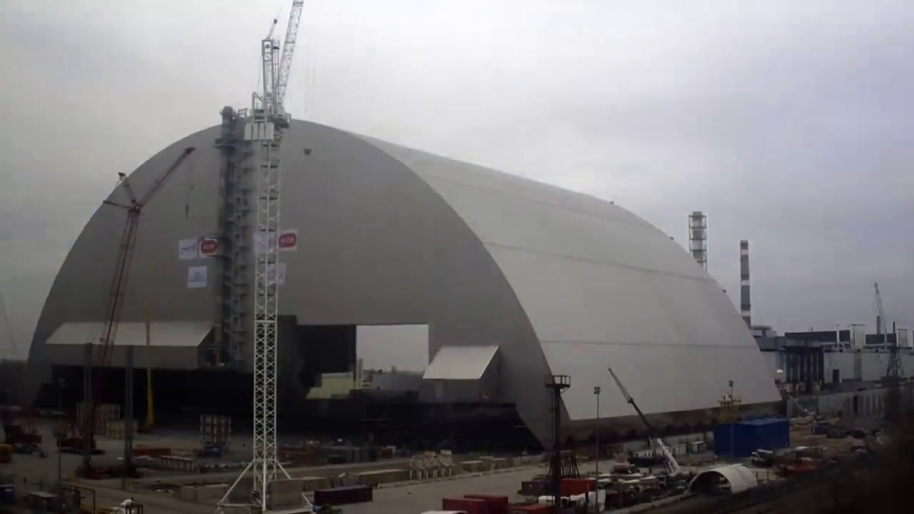 A 110-meter sarcophagus was installed above Chernobyl 11/29/2016 72