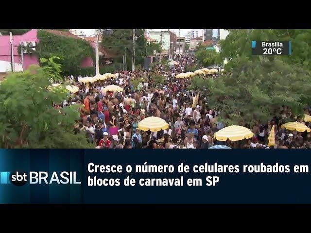 Cresce o número de celulares roubados em blocos de carnaval em SP | SBT Brasil (25/02/19)