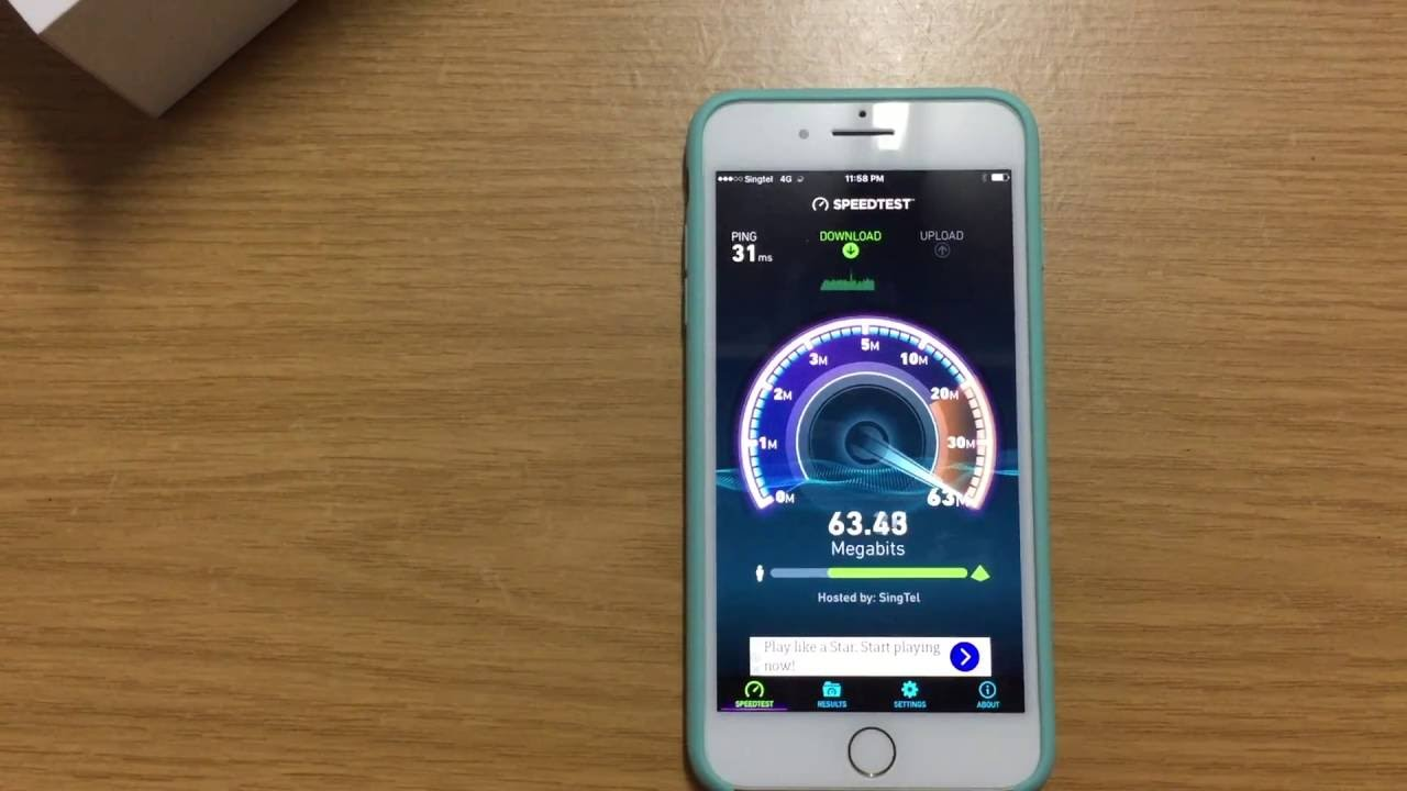 iphone wifi speed test apple iphone 7 plus wifi and lte 4g speed test 9556