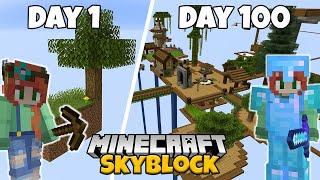 I Spent 100 Days in Minecraft Skyblock...