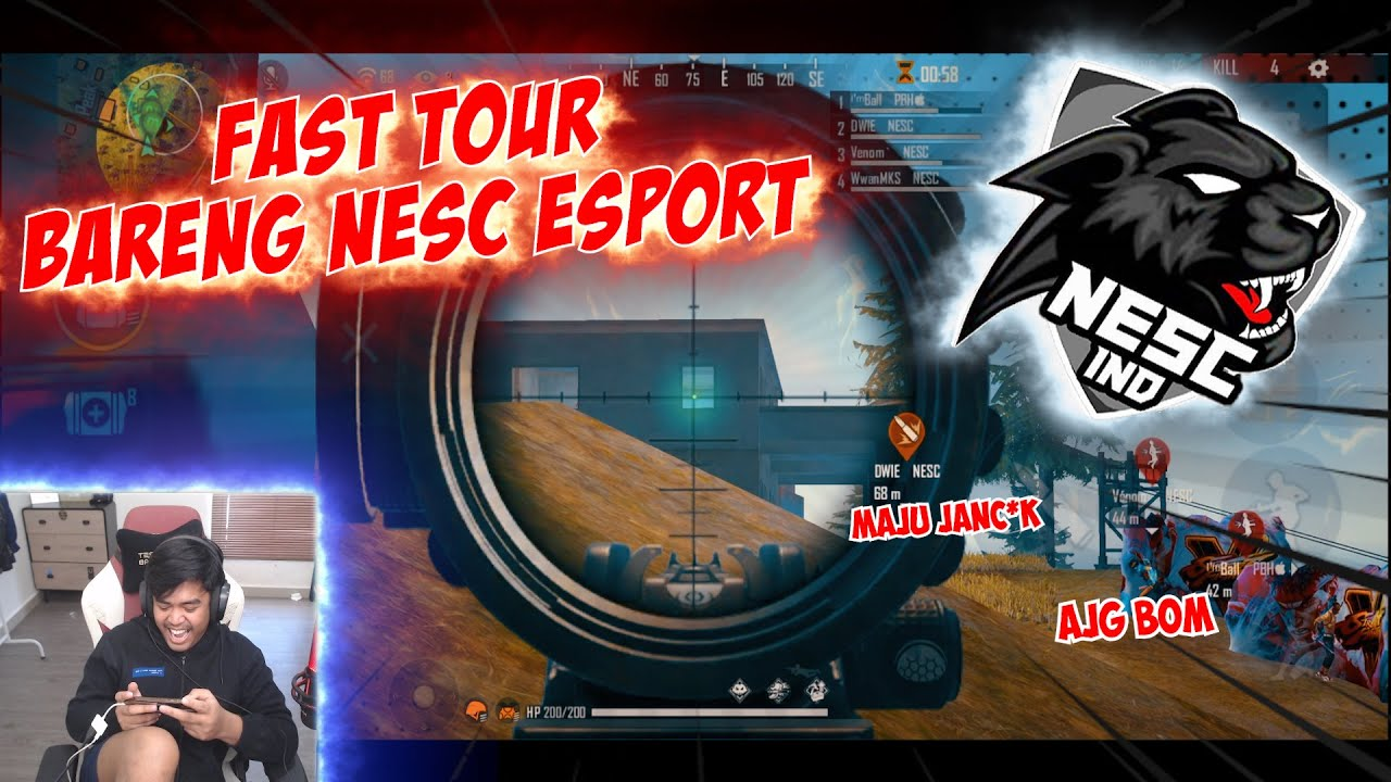 NGELAWAK DI FAST TOUR BARENG NESC ESPORT MALAH BOOYAH KILL 23!!!