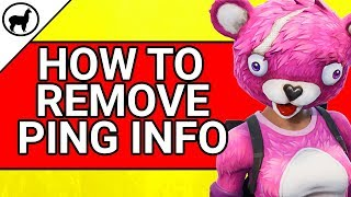 How to Remove the Ping Information on Xbox, Ps4, and Switch | Fortnite Battle Royale
