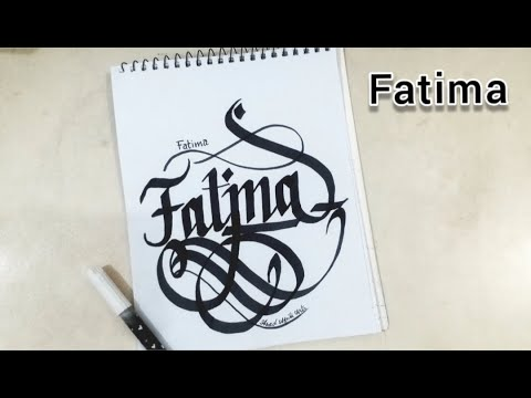 Amazing Calligraphy - Fatima  | 3D & Calligraphy Drawing | Boys & Girls Names