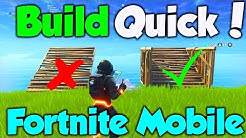 How To Build SUPER Quick in Fortnite Mobile! - Fortnite Mobile Tips & Tricks!