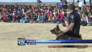 Rio Rancho police K-9s visit with elementary students