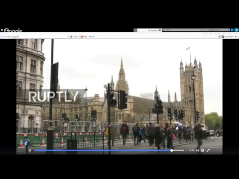 LIVE from London as armed police close roads in political district