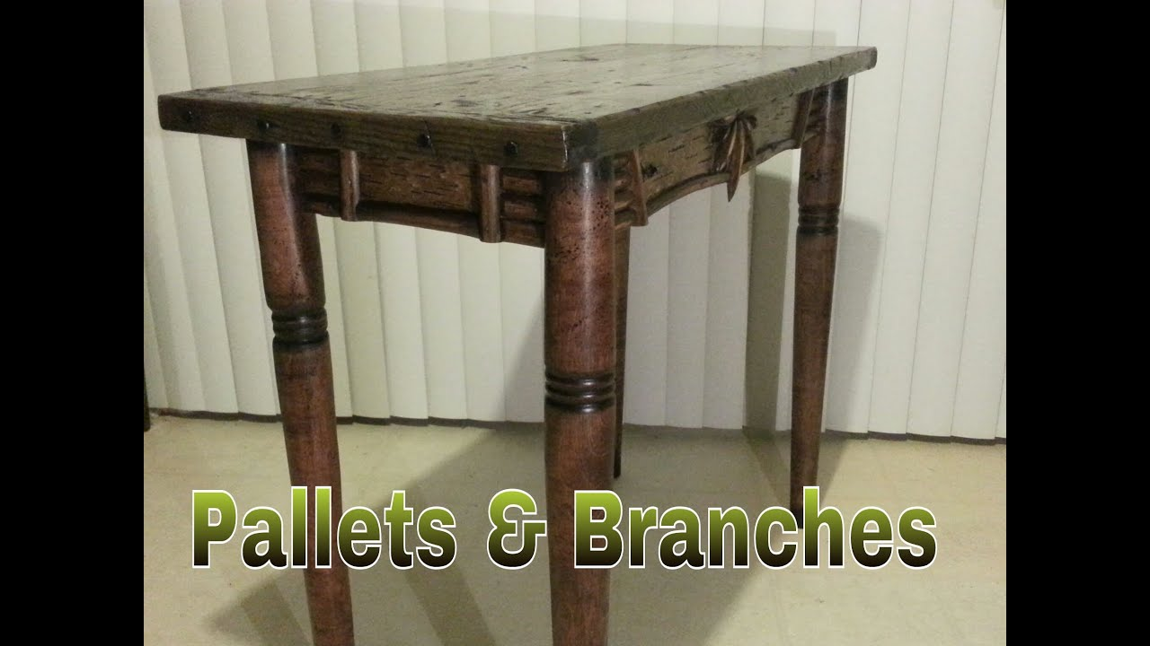 Pallet Furniture Re Claimed Table 50 Wood Shop Youtube