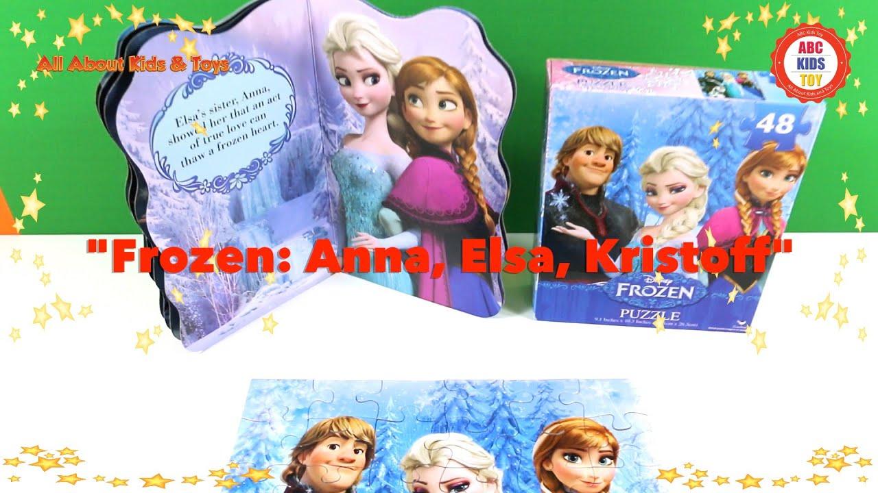 Elsa Anna Olaf Kristoff Games Frozen Disney Movie Characters ABC
