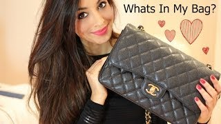 Whats In My Bag/Purse 2014 (Chanel Jumbo Caviar) Thumbnail