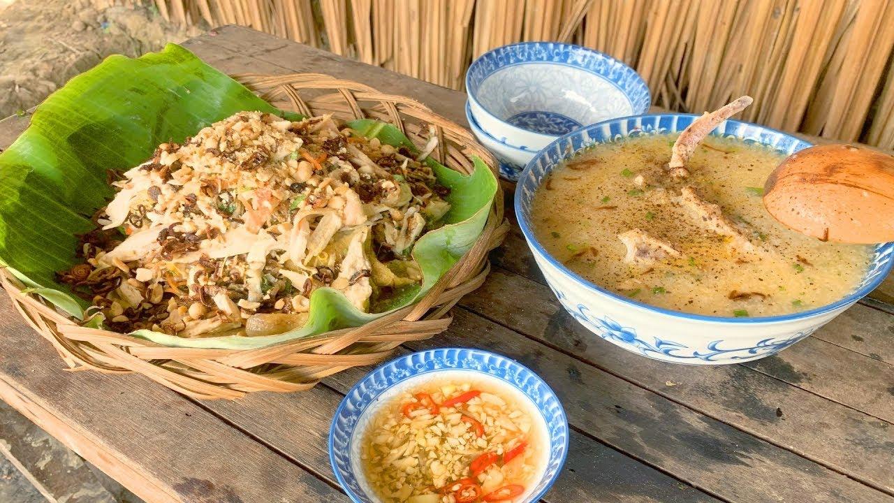 Làm Gỏi Gà & Cháo Gà Phong Cách Miền Quê – Chicken Salad – Quỳnh Anh Life