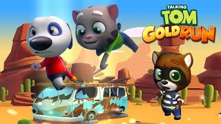 Talking Tom Gold Run Android Gameplay - Talking Tom vs Talking Hank vs Raccoon Robber