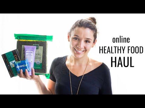 ONLINE HEALTHY FOOD HAUL | gluten-free + vegan