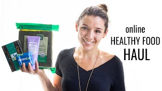 ONLINE HEALTHY FOOD HAUL | gluten-free + vegan