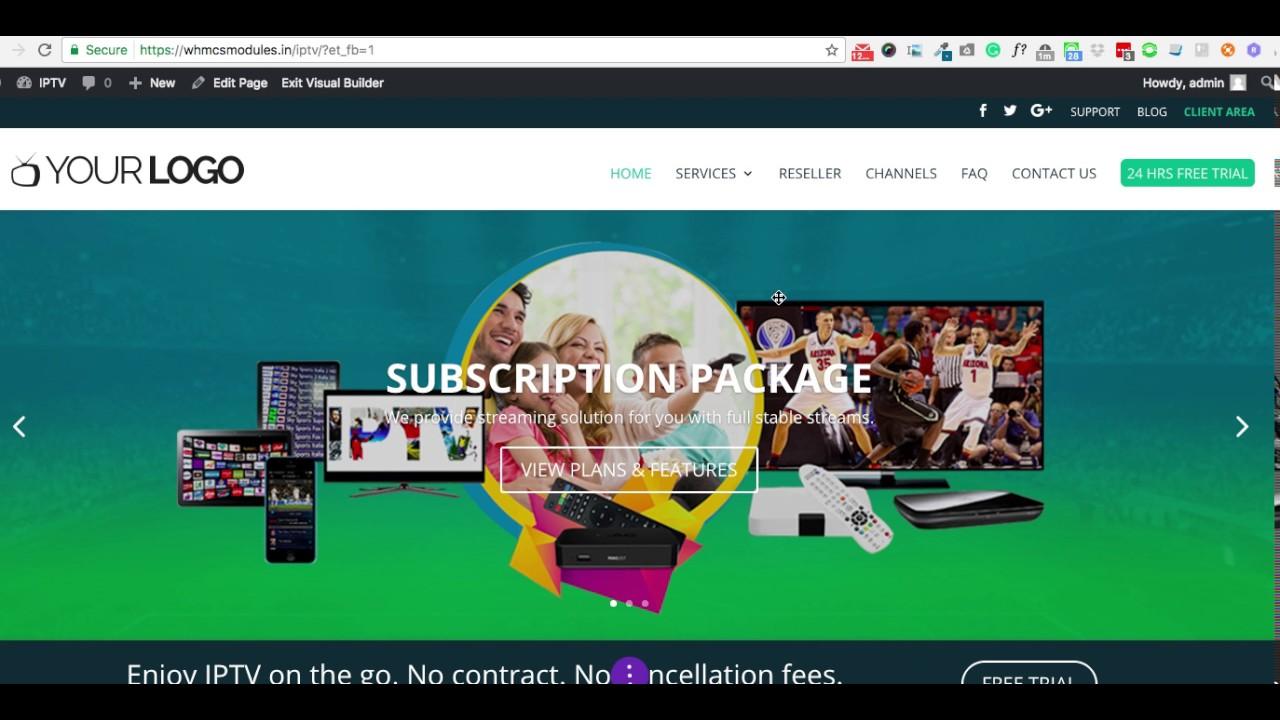Edit IPTV Theme easily | IPTV Billing Portal V2