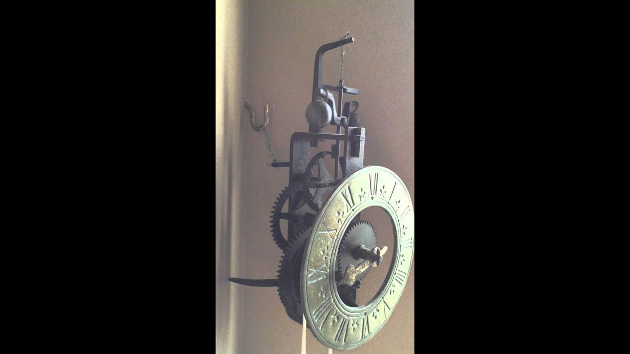 Iron Verge Amp Foliot Wall Clock Timepiece Youtube