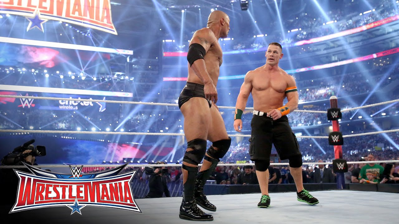 John Cena Returns To Join Forces With The Rock Wrestlemania 32 On