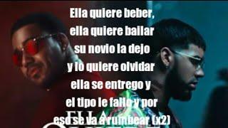 Ella Quiere Beber Remix (Letras) Anuel AA ft Romeo Santos