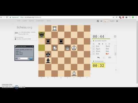 Chess bot playing RACING KINGS vs Stockfish lvl 8 on lichess