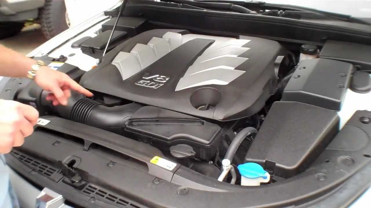 2013 hyundai 5 0l gdi engine under the hood tour [ 1280 x 720 Pixel ]