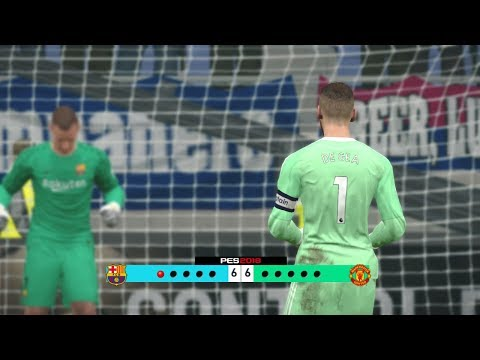 Barcelona vs Manchester United - Penalty Shootout [New Kits 2017/18]