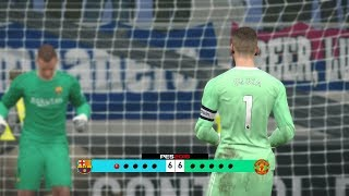 Barcelona vs Manchester United - Penalty Shootout [New Kits 2017/18]