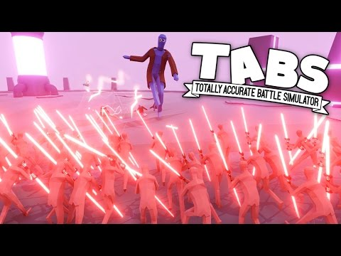 TABS - New Units -Neon! - Huge Light Saber Armies! - Totally Accurate Battle Simulator Neon Gameplay
