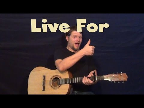 Live For (Weeknd) Easy Guitar Lesson Strum Chord How to Play Tutorial