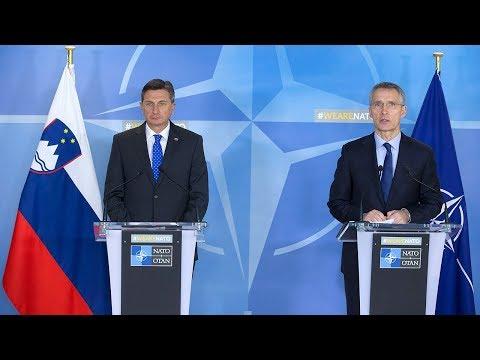 NATO Secretary General with the President of Slovenia, 9 JAN 2018