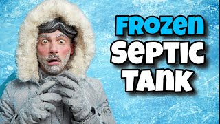 Frozen Septic Tank