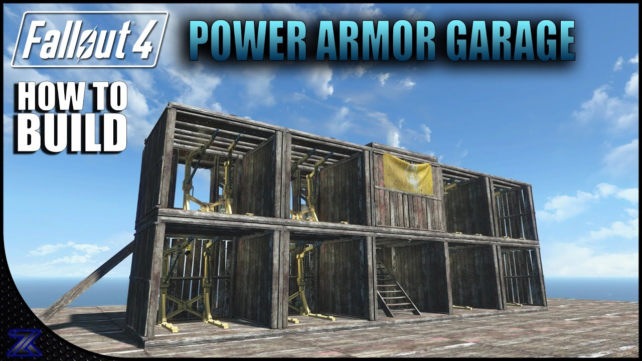 Fallout 4 how to build a power armor garage settlement for Fallout 4 bedroom ideas