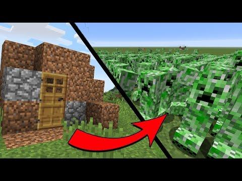 НУБ ПРОТИВ 1000 КРИПЕРОВ! КАК СТАТЬ ПРО? ТРОЛЛИНГ В МАЙНКРАФТ ~ 1000 CREEPERS VS NOOB MINECRAFT - Видео из Майнкрафт (Minecraft)