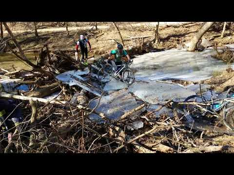 VeloPigs gravel grind and ice hike at Jeb Stuart Ford, VA