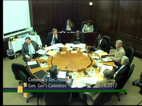 Community Development / Housing / General Government Committee February 2017