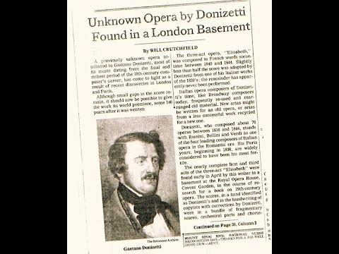 Donizetti * Élisabeth _ World Premiere / * Tsirakidis * Osborn * Manachurian _ Crutchfield